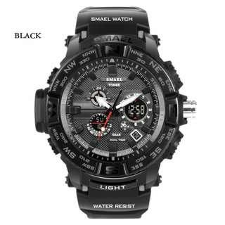 SMAEL digital sport watch w/analog time waterproof 10M 1yr warranty