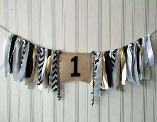[Hand Made] 1st Birthday Party Baby Chair Garland