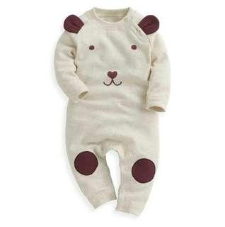 嬰幼兒Lativ_造型連身衣_米色70cm