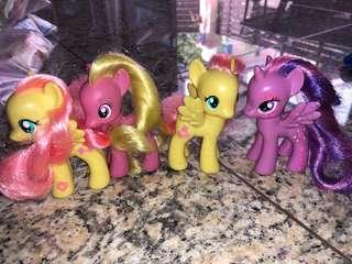 My Little Pony - set of 4 ponies