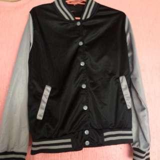 Varsity jacket black and grey for kids