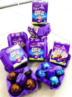 Dairy milk,egg and spoon