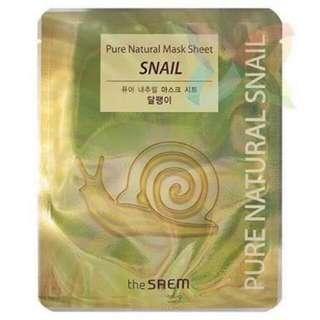The saem pure snail mask