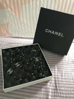 CHANEL 黑色 珠珠 長頸鍊
