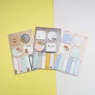 Bare Bears Sticky Notes Post-its