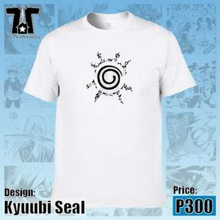Naruto Anime - Kyuubi Seal White T-Shirt