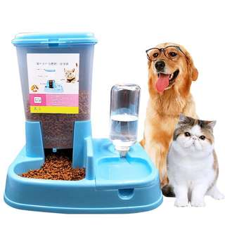 Ready stock High quality Automatic Pet Food Water feeder dispenser bowl Cat Dog