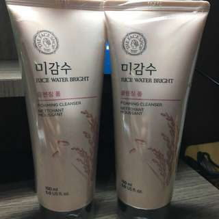 The face shop rice water Bright cleansing foam Original Import Korea