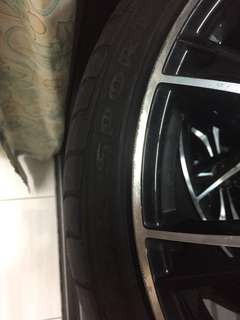 Enkei car sport rim 18 inch used
