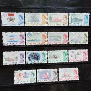 [lapyip1230] 英屬巴哈馬 1965年 QEII 彩色新票大全套 Full Set Mint