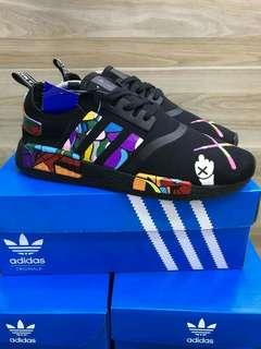 Adidas R1 X KAWS black cartoon high premium original