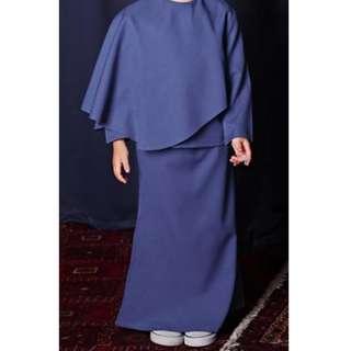 POKOKS - The Tali Overlay Baju Kurung - Royal Blue
