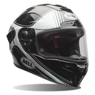 Bell RACE STAR Full Face Motorcycle Motorbike Helmet LIMITED EDITION RSD ROLAND SANDS DESIGN Silver Carbon Fibre Fiber Black SIZE SMALL MEDIUM LARGE X-LARGE XX-LARGE XL XXL XS X-SMALL RARE