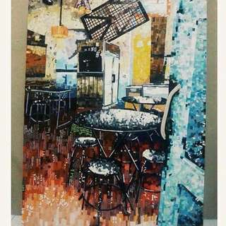 Cafe Old Town, Collage artwork