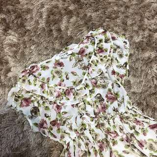 Forever 21: Floral Chiffon Dress