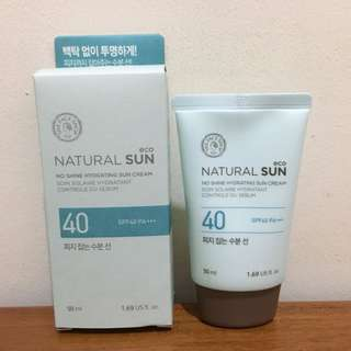 The Face Shop Natural Sun Eco No Shine Hydrating Sun Cream SPF 40 PA+++
