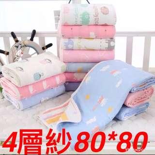 4層紗浴巾嬰兒包巾