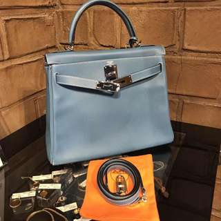 Hermes kelly 28 bluejeans