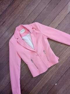Bershka Peach Pink Blazer