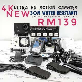 4K Sport Ultra HD Action Camera wifi NEW