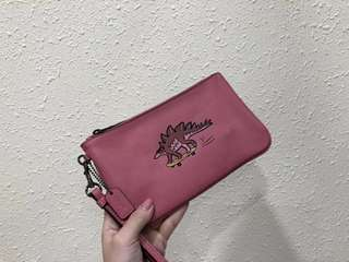 Coach Beasts Large Wristlets in glovetanned leather