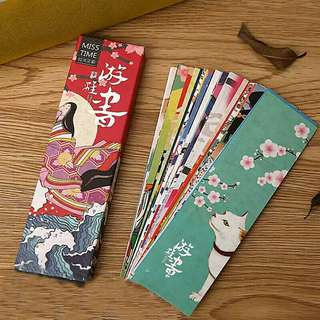 30pcs/lot Japanese Vintage Style Kawaii Bookmark Paper Book Markers Marque Page Cute Stationery School Chancery Supplie Gift