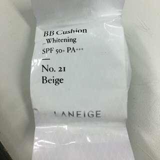 Laneige BB Cushion Whitening, Shade 21