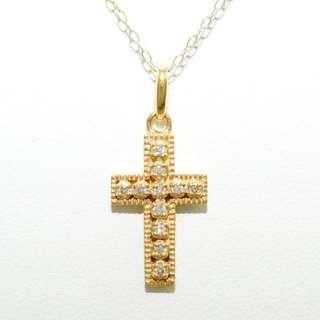 18k Diamond Cross Necklace (Crucifix)
