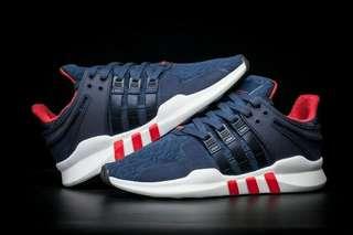 Adidas EQT support ADV navy blue red high premium original sepatu