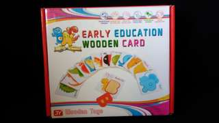 wooden puzzle flash cards