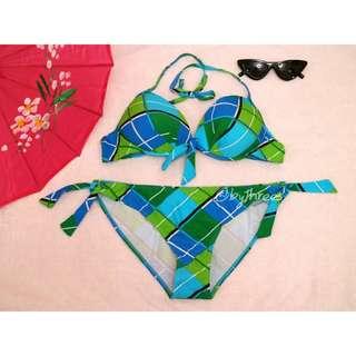 REPRICED. Checkered bikini / two piece / swimsuit