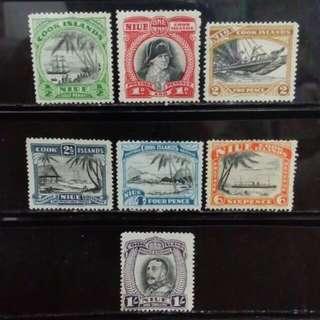 [lapyip1230] 英屬庫克群島-紐矣島 1935年 喬治五世 新票全套 Set Mint
