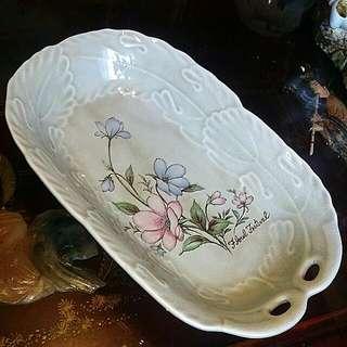 3 Pcs Vintage Thick Porcelain Plates