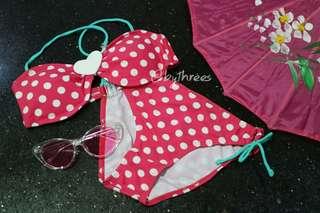 The polka bikini / two piece / swimsuit