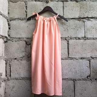 Peach Loose Tent Dress