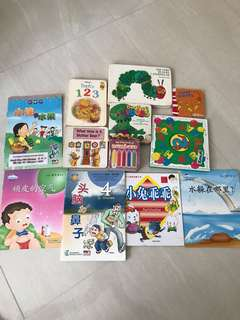 Assorted English and Chinese story books