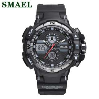 SMAEL digital sport watch w/analog time waterproof 10M 1yr warranty