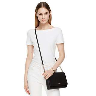 KATE SPADE WKRU4642 TIDEN PLACE ALEK LEATHER CROSS-BODY