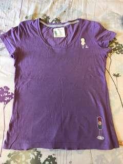 🚚 A la sha紫色短袖T