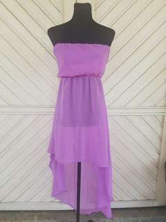 Terranova High Low Violet Dress