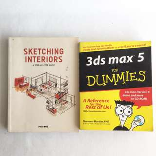 Interior/architecture book: sketching interior & 3Ds Max for dummies