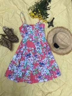 Dress pink angun dan elegan