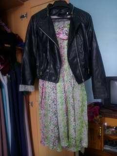 Promo!!  Jaket kulit+dress