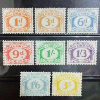 [lapyip1230] 英屬巴布亞新畿內亞 1960年 欠資票 新票全套 Set Mint