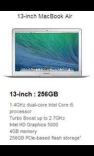 """Macbook Air 13"""" 256GB storage 4GB Memory (preloved)"""