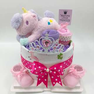 VALUE BUY! Baby Diaper Cake - unicorn Theme.