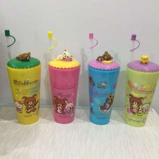 Rilakkuma Water Bottle with Straw 750ml