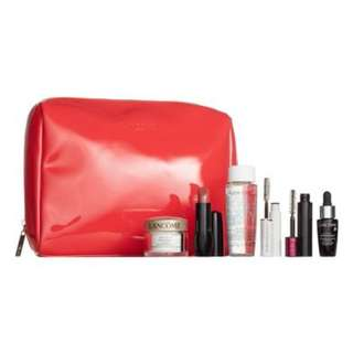 Lancome travel set with pouch