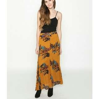 Mustard Boho skirt