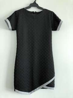 T-Shirt Dress with Overlap Front Detail